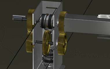 Two axis gearbox