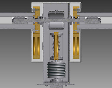 Two axis gearbox section